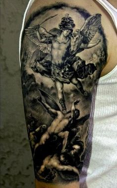 angel statue tattoo | st. michael the archangel | Tumblr