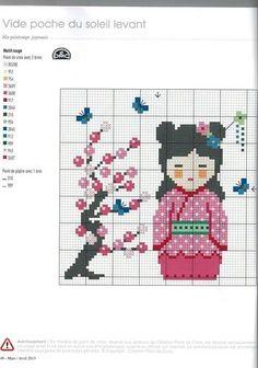 0 point de croix femme asiatique - cross stitch asian girl