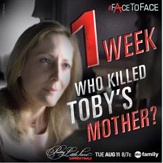 Find out who killed Toby's mother and come #FAceFAce with A! The #PLL summer finale is next Tuesday at 8pm/7c! #6X10 #8/11/15