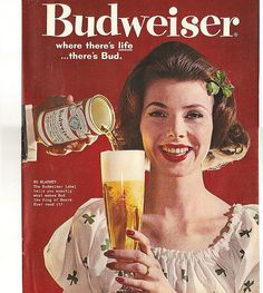 Budweiser - from 20 Truly Remarkable Retro and Vintage Advertisements Beer Advertisement, Old Advertisements, Retro Advertising, Advertising Sales, Vintage Ads, Vintage Posters, Vintage Photos, Beer Poster, Poster Ads