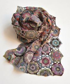 Sophie Digard crochet motif scarf