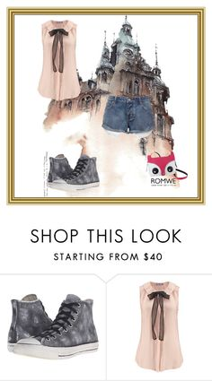 """Haunted House"" by angel-holland ❤ liked on Polyvore featuring Converse"