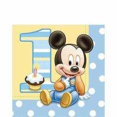 baby mickey mouse 1st birthday instant download digital clip art rh pinterest com 1st birthday clipart girl 1st birthday clip art boy