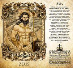 The Vodou Store Candle Label - Zeus - Mythological Creatures, Fantasy Creatures, Mythical Creatures, Greek Mythology Gods, Greek Gods And Goddesses, Pagan Gods, Satanic Art, Mermaid Pictures, Candle Labels