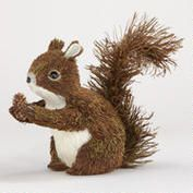 Natural Fiber Squirrel with Pinecone Tabletop Décor