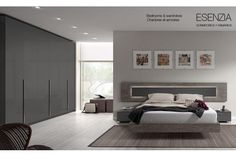 Dormitor 7912 LUCIA Creat pentru cei ce-si doresc un ambient modern cu un aer proaspat! Beautiful Bed Designs, White Bedroom, Master Bedroom, Mexican Bedroom, Rack Tv, Sweet Home, New Homes, Room Decor, House Design