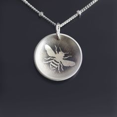 Sterling Silver Honey Bee Necklace by Lisa Hopkins Design