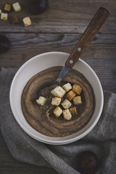 Zuppa di castagne e sedano rapa