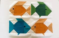 "I am fishing this week....testing out a new quilt with Lorna's ( @sewfreshquilts ) new pattern ""Kissy Fishy!"" These are..."