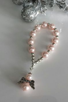 Baptism Gift Rosaries with Guardian Angel Finger Rosaries Guardian Angel Rosary Mini Finger One Decade Rosary Baby Shower/Baptism Favors Jewelry Design Earrings, Tassel Jewelry, Pearl Jewelry, Beaded Earrings, Diy Jewelry, Beaded Jewelry, Jewelery, Handmade Jewelry, Jewelry Making