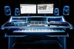 Check out the Music Production Desk Studio Desk Gallery at StudioDesk. Our custom Music production desk furniture use for the home or professional studios. Home Studio Setup, Design Studio Office, Studio Build, Recording Studio Design, Studio Ideas, Audio Studio, Music Studio Room, Sound Studio, Music Desk