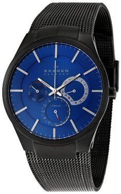 Skagen Men's 809XLTBN Titanium Blue Dial Watch Skagen. $84.30. Quartz movement. Durable mineral crystal protects watch from scratches. Case diameter: 40 mm. Titanium case. Water-resistant to 99 feet (30 M). Save 57% Off!