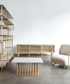 sebastien leon's furniture for atelier d'amis elegantly references the construction sites of NYC