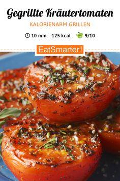 Grillen auf leichte Art: Gegrillte Kräutertomaten - kalorienarm - schnelles Rezept - einfaches Gericht - So gesund ist das Rezept: 9,1/10 | Eine Rezeptidee von EAT SMARTER | Sommergerichte, Grillen, Barbecue, Beilagen zum Grillen, Grillgemüse, Grillparty, Grillrezepte, Gemüse grillen, Vegan grillen, Vegetarisch Grillen, Einfach, Ferienküche, für 4 Personen, Für jeden Tag, Gartenparty, Gäste, Wochenende, Gemüse, Fruchtgemüse, Kräuter, Beilage #fruchtgemüse #gesunderezepte Vegan Barbecue, Party Finger Foods, Salmon Burgers, Tapas, Salad Recipes, Gnocchi, Mac And Cheese, Grilling, Food And Drink