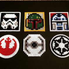 Star Wars coasters hama beads by CharlottesHamaTime