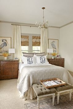 """If you have windows with no trim, I love this trick for """"framing"""" windows with paint before you ever hang anything on them. Use a paint color at least 2-3 shades darker than your wall color to make your windows pop."""