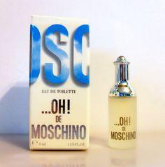 Vintage 1990s OH! De Moschino by Moschino 0.1 oz Eau de Toilette Mini Miniature PERFUME