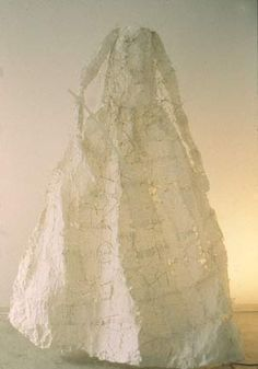 Lesley Dill. Paper Poem Dress (The Thrill Came Slowly Like a Boon,E.D.), 1995
