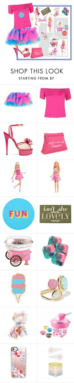 """Barbie in Candy Land"" by archsan ❤ liked on Polyvore featuring Oris, Boohoo, Charlotte Olympia, Lisa Perry, Home Decorators Collection, Nostalgia Electrics, DENY Designs, Stoney Clover Lane, Ippolita and Nostalgia"