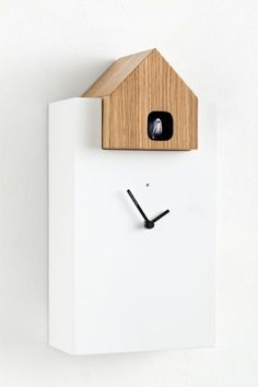 Cookoo Clock, Beautiful Design Using Painted Wood And Oak