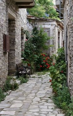 Pano Lefkara village backalley, Larnaca District, Cyprus | Flickr - Photo by Raphael Bick