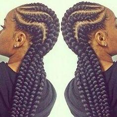 Simple braids #braids #cornrows #extensions