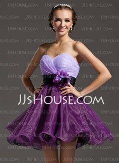 Homecoming Dresses - $83.49 - A-Line/Princess Sweetheart Short/Mini Organza  Satin Homecoming Dresses With Ruffle  Sash (022008998) http://jjshouse.com/A-line-Princess-Sweetheart-Short-Mini-Organza-Satin-Homecoming-Dresses-With-Ruffle-Sash-022008998-g8998