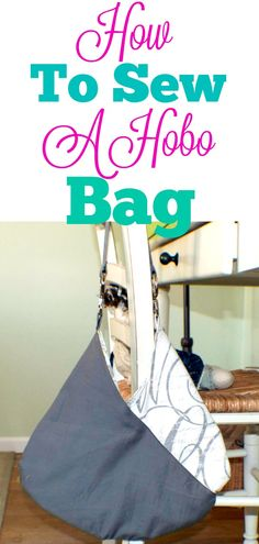 How to sew a slouchy hobo nag. Free pattern and tutorial.  #hobobag #handbag #sewingtutorial #sewingproject