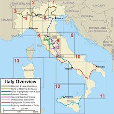 Different Italian Itineraries
