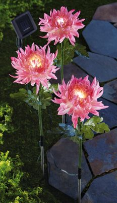 Solar Lighted Peony Flower Stakes