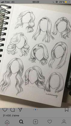 verschiedene Frisure