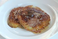 """""""French toast"""" made with slices of eggplant dipped in egg, vanilla, cinnamon and sweetener mixture!"""