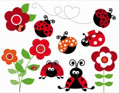 ladybug clip art | Baby Ladybug Clip Art Clipart-lady-bug-garden-red1- ...