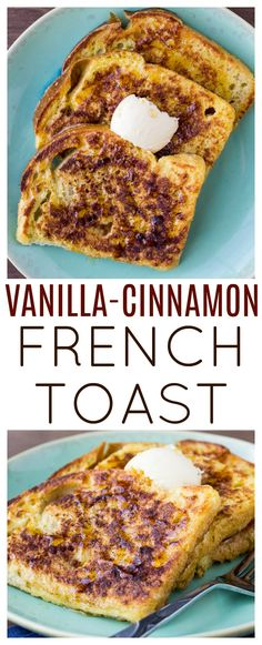 Vanilla Cinnamon French Toast – this classic breakfast recipe gets a little twist! You will love the Check it out Vanilla Cinnamon French Toast – this classic breakfast recipe gets a little twist! You will love the hint of vanilla in every bite! Crockpot French Toast, Oven French Toast, Healthy French Toast, Best French Toast, French Toast Recipes, French Toast Without Milk, Breakfast Desayunos, Best Breakfast Recipes, Breakfast Healthy