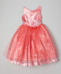 Look what I found on #zulily! Rose Daisy Eyelet Dress - Toddler & Girls by Chic Baby #zulilyfinds