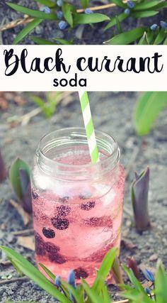 MUSTAHERUKKASOODA | BLACK CURRANT SODA Black Currants, Soda, Vegetables, Recipes, Soft Drink, Food Recipes, Sodas, Vegetable Recipes, Rezepte