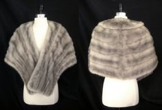 finest silver mink stole, only at moxiefurs... perfect for your winter wedding! *SOLD*