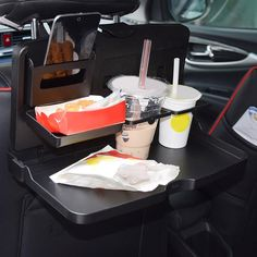 2016 Universal Black Car food tray folding dining table drink holder car pallet back seat water car cup holder