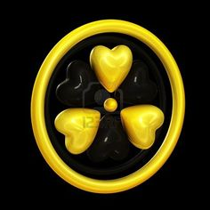 I would love something like this for a tattoo!!!  Heart Symbols Forming A Radiation Alert Sign Image 11287695.