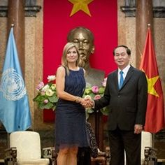 Queen Maxima of the Netherlands visits Hanoi as part of her three day visit to Vietnam