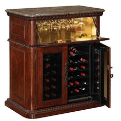 wine cooler cabinet - A wine cooler cabinet can be an attractive addition to your home, especially if you do a lot of entertainment. You can build your own wine cooler at home. Wine Bar Furniture, Farmhouse Furniture, Kitchen Furniture, Office Furniture, Best Wine Refrigerator, Wine Fridge, Refrigerator Cabinet, Thermoelectric Wine Cooler, Built In Wine Cooler