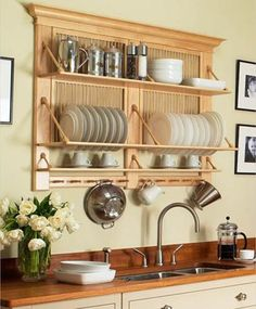 Diy kitchen rack shelves home decor 28 Ideas Kitchen Shelves, Diy Kitchen, Kitchen Storage, Kitchen Decor, Kitchen Wood, Kitchen Ideas, Kitchen Organization, Messy Kitchen, Organization Ideas