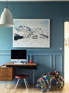 Paris appartement - Blue wall Photos: MiKaël Lafontan et Karel Balas via Milk Décoration