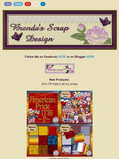 "Ad:New Scrapkit ""American Pride"",Buy My Store Deal,40% Off Sale,& More from Brenda's Scrap Design!https://madmimi.com/s/2dd4b4"