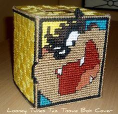 Taz Tissue Box Cover - fits a standard square Kleenex box