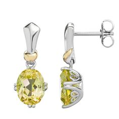 Lemon Quartz Sterling Silver Oval Drop Earrings ($600) ❤ liked on Polyvore featuring jewelry, earrings, yellow, sterling silver drop earrings, sterling silver jewellery, lemon quartz jewelry, yellow drop earrings and sterling silver jewelry