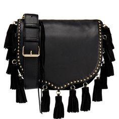 fcc1bc924817 Rebecca Minkoff Small Tassel Crossbody Saddle Bag (655 BRL) ❤ liked on Polyvore  featuring