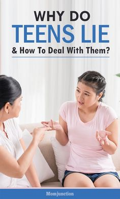 Why Do Teens Lie & How To Deal With Them? #teengirlparentingadvice #parentingteenagers