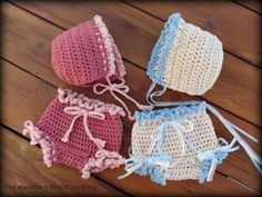 Baby Bonnet and Bloomer Set