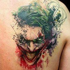 Splash Joker Tatuaggi Impressionanti, Nuovi Tatuaggi, Tatuaggi Di Body Art,  Bellissimi Tatuaggi,